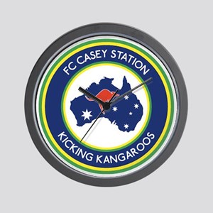 FC-Casey-Station-Australia-shield Wall Clock
