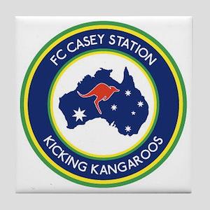 FC-Casey-Station-Australia-shield Tile Coaster