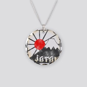 Mt fuji Necklace Circle Charm