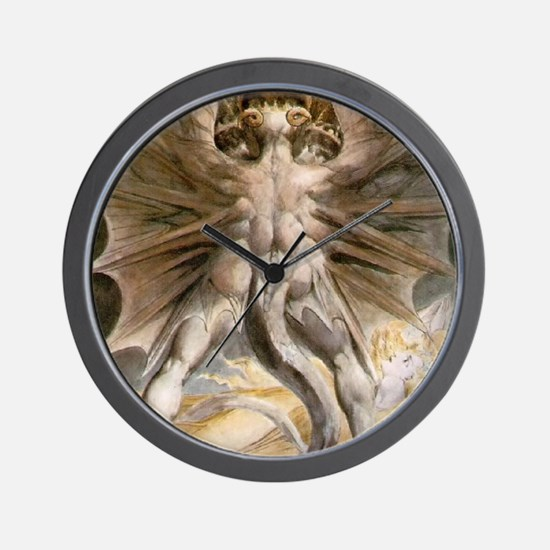 The Great Red Dragon Wall Clock