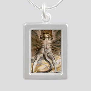 The Great Red Dragon Silver Portrait Necklace