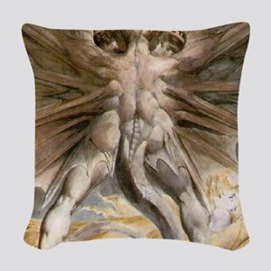 The Great Red Dragon Woven Throw Pillow