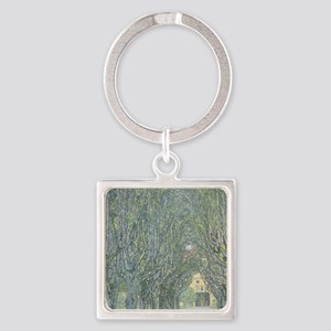 Avenue of Trees Square Keychain