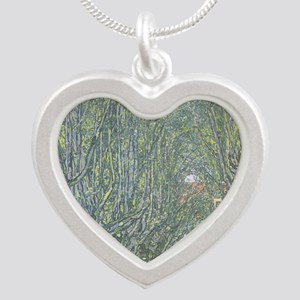 Avenue of Trees Silver Heart Necklace