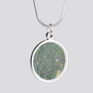 Avenue of Trees Silver Round Necklace