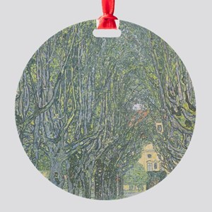 Avenue of Trees Round Ornament
