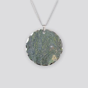 Avenue of Trees Necklace Circle Charm