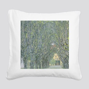 Avenue of Trees Square Canvas Pillow