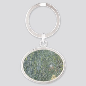 Avenue of Trees Oval Keychain