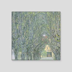 """Avenue of Trees Square Sticker 3"""" x 3"""""""
