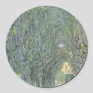 Avenue of Trees Round Car Magnet