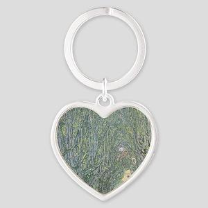 Avenue of Trees Heart Keychain