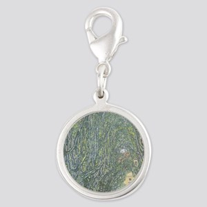 Avenue of Trees Silver Round Charm