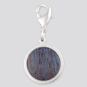 Beeches Silver Round Charm