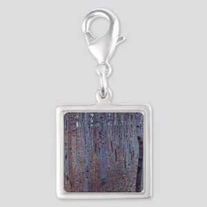 Beeches Silver Square Charm
