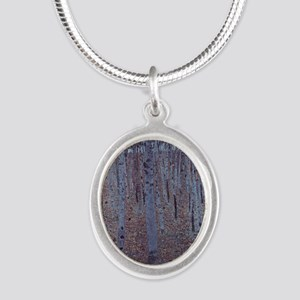 Beeches Silver Oval Necklace
