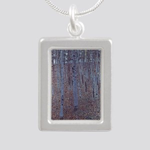 Beeches Silver Portrait Necklace