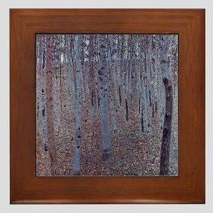 Beeches Framed Tile