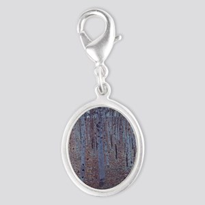 Beeches Silver Oval Charm