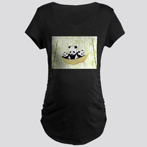 Panda in Hammock Maternity T-Shirt