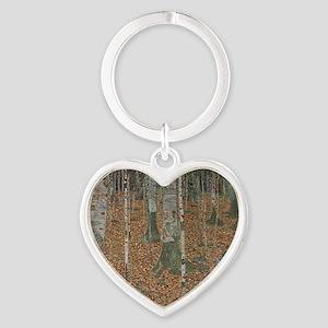 Birch Forest Heart Keychain
