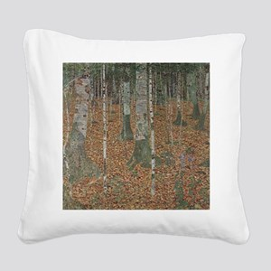 Birch Forest Square Canvas Pillow