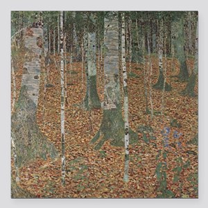 """Birch Forest Square Car Magnet 3"""" x 3"""""""