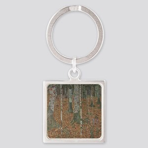 Birch Forest Square Keychain