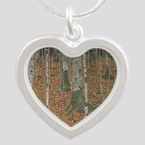 Birch Forest Silver Heart Necklace