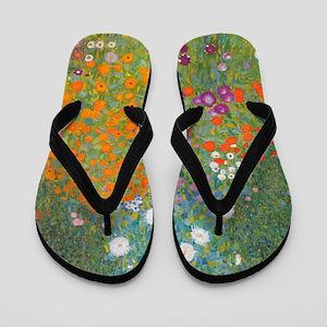 Flower Garden Flip Flops