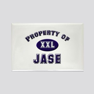 Property of jase Rectangle Magnet