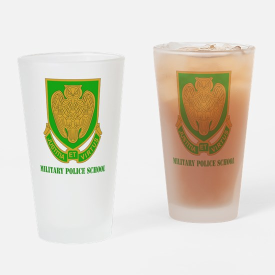 DUI-MILITARY POLICE SCHOOL  WITH TE Drinking Glass