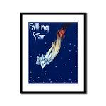 Falling Star Framed Panel Print