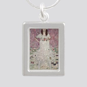 Mada Primavesi Silver Portrait Necklace