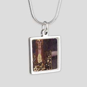Pallas Athena Silver Square Necklace