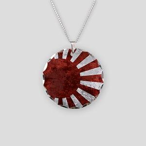 Japanese Rising Sun Mousepad Necklace Circle Charm