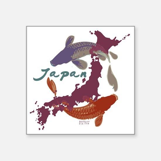 """japanrelief2011_4 Square Sticker 3"""" x 3"""""""