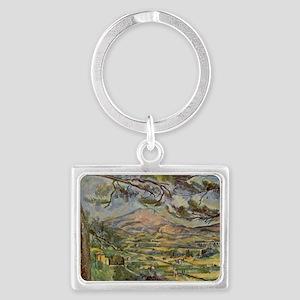 Mont Sainte-Victoire Landscape Keychain
