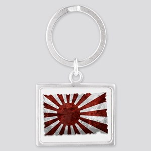 Japanese Rising Sun Flag Landscape Keychain