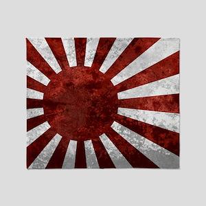 Japanese Wall Peel Sticker Large Throw Blanket