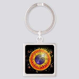 Solar Eclipse Moon Face Keychains
