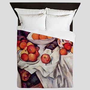 Still Life with Apples and Oranges Queen Duvet