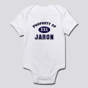 Property of jaron Infant Bodysuit
