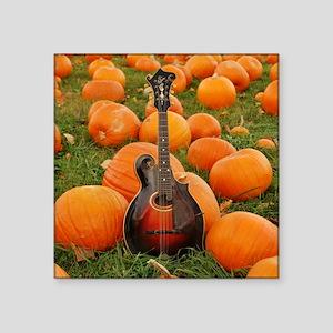 """Mandolin / Mandola in Pumpk Square Sticker 3"""" x 3"""""""