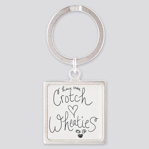 crotch wheaties Square Keychain