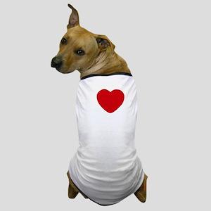 I Heart San Diego White Text Dog T-Shirt