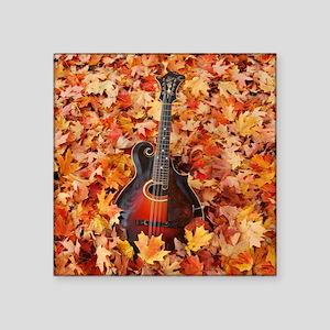"""Mandolin / Mandola in Autum Square Sticker 3"""" x 3"""""""