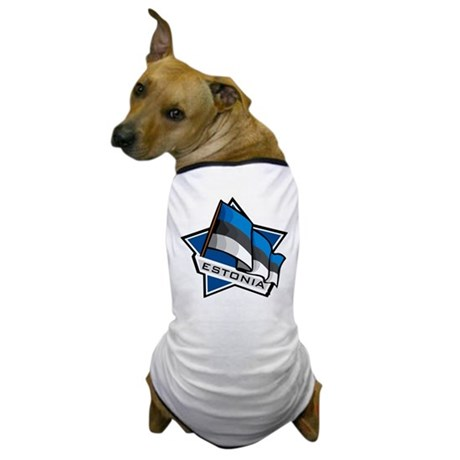 """Estonia Star Flag"" Dog T-Shirt"