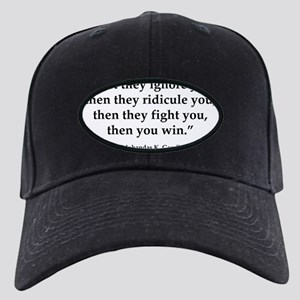 gandhi quote Black Cap