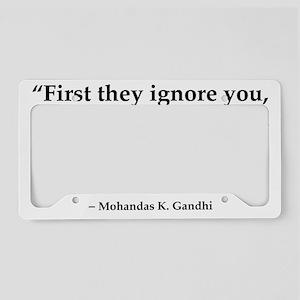 gandhi quote License Plate Holder